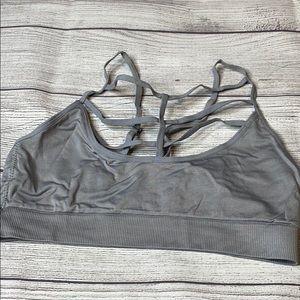Gray Victoria's Secret strappy bralette